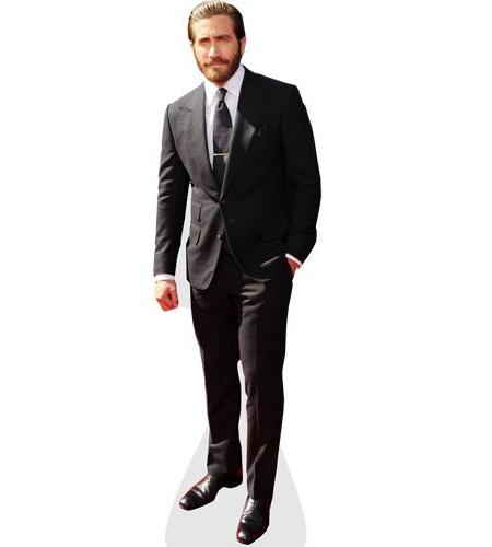 A Lifesize Cardboard Cutout of Jake Gyllenhaal wearing a suit