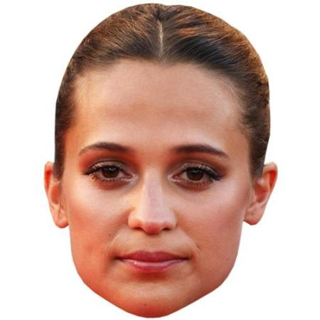 A Cardboard Celebrity Big Head of Alicia Vikander