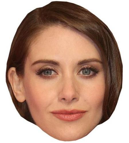 A Cardboard Celebrity Big Head of Alison Brie