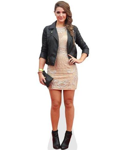 A Lifesize Cardboard Cutout of Anna Passey wearing a jacket