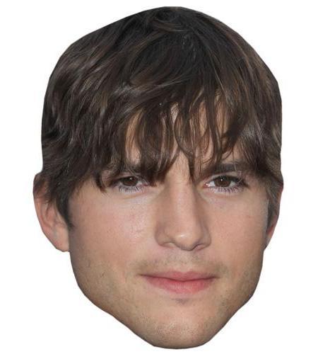 A Cardboard Celebrity Big Head of Ashton Kutcher