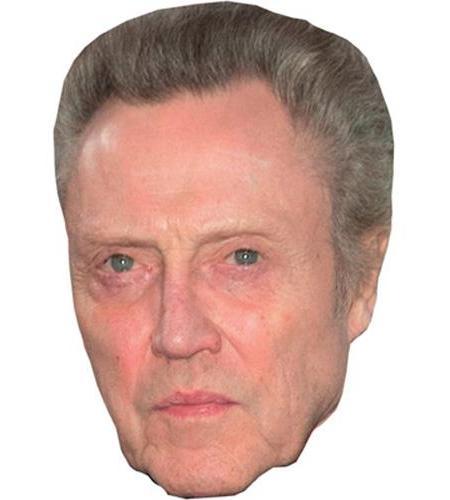 A Cardboard Celebrity Big Head of Christopher Walken