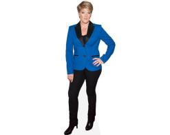 A Lifesize Cardboard Cutout of Clare Balding wearing blue