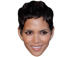 A Cardboard Celebrity Mask of Halle Berry