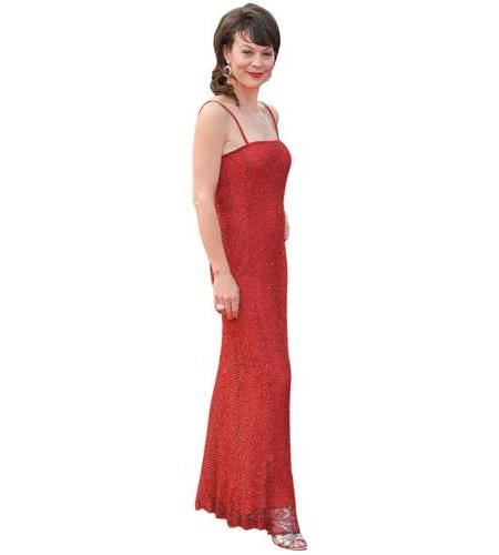 A Lifesize Cardboard Cutout of Helen McCrory wearing red