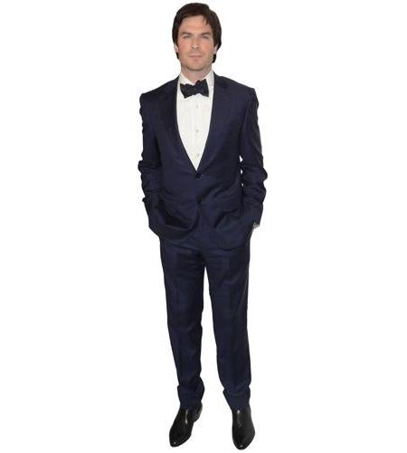 A Lifesize Cardboard Cutout of Ian Somerhalder wearing a bow tie
