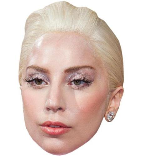 A Cardboard Celebrity Big Head of Lady Gaga