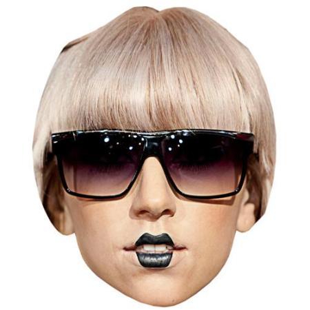 A Cardboard Celebrity Big Head of Lady Gaga (Glasses)