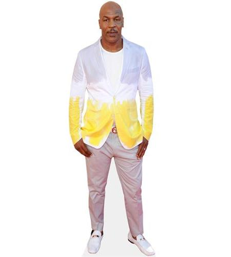 A Lifesize Cardboard Cutout of Mike Tyson wearing jeans