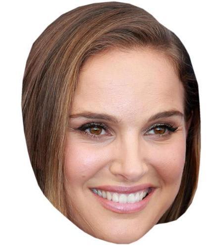 A Cardboard Celebrity Mask of Natalie Portman