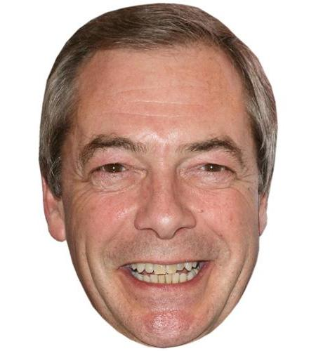 A Cardboard Celebrity Big Head of Nigel Farage