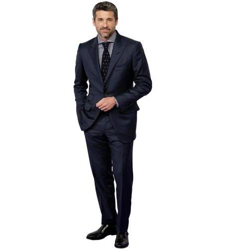 A Lifesize Cardboard Cutout of Patrick Dempsey wearing a suit