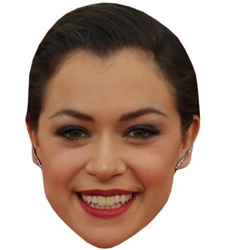 A Cardboard Celebrity Big Head of Tatiana Maslany