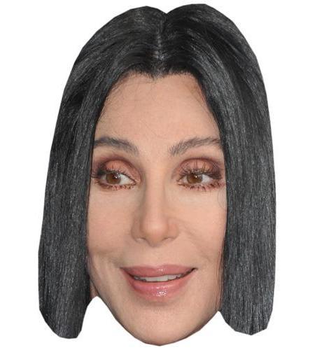 A Cardboard Celebrity Big Head of Cher