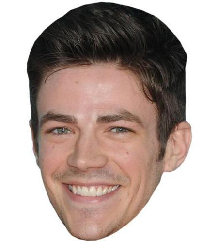 A Cardboard Celebrity Big Head of Grant Gustin