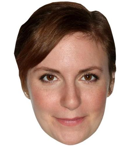 A Cardboard Celebrity Big Head of Lena Dunham