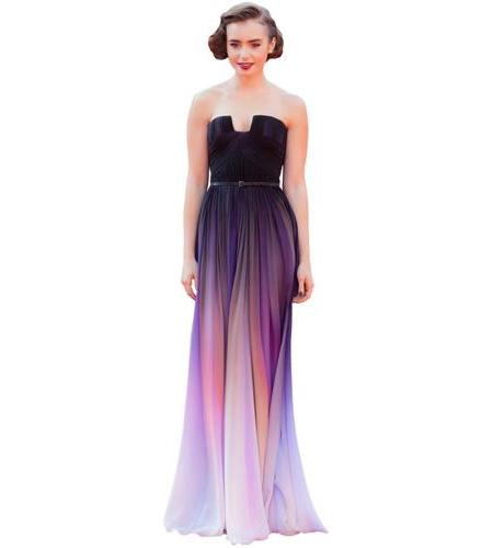 A Lifesize Cardboard Cutout of Lily Collins