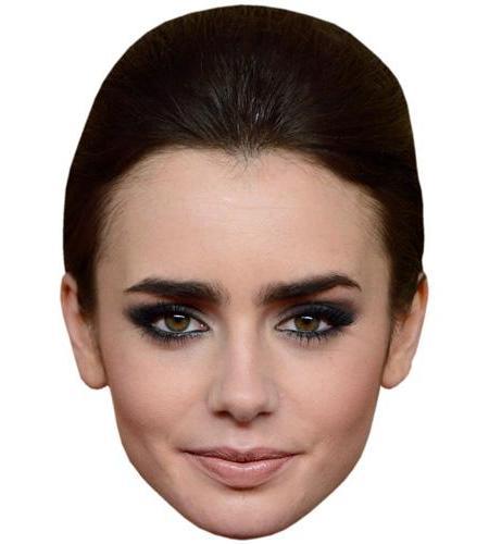 A Cardboard Celebrity Big Head of Lily Collins
