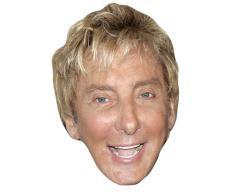 A Cardboard Celebrity Mask of Barry Manilow