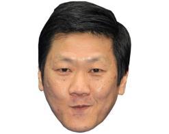 A Cardboard Celebrity Mask of Benedict Wong