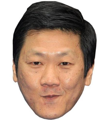 A Cardboard Celebrity Big Head of Benedict Wong