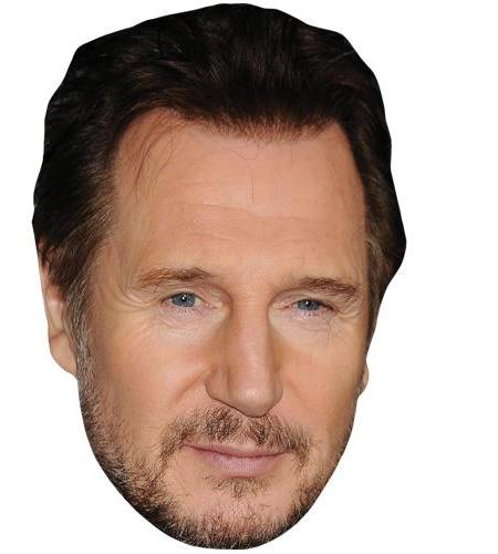 A Cardboard Celebrity Big Head of Liam Neeson