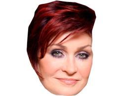 A Cardboard Celebrity Mask of Sharon Osbourne
