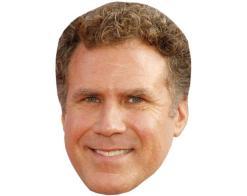 A Cardboard Celebrity Mask of Will Ferrell