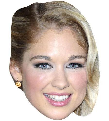 A Cardboard Celebrity Big Head of Amanda Clapham