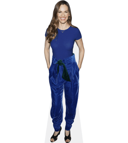 Hilary Swank (Blue Outfit)