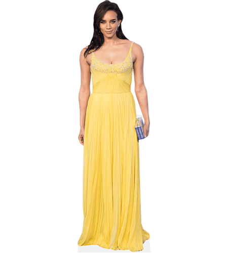 Hannah John-Kamen (Yellow Dress)
