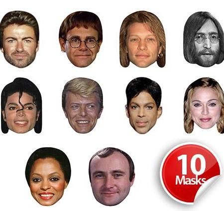 80's Musicians Mask Pack
