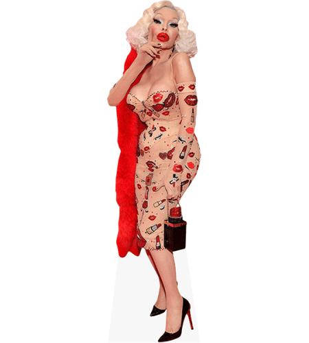 Amanda LePore (Lipstick Dress)