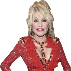 Dolly Parton (Red Dress) Cardboard Buddy Cutout