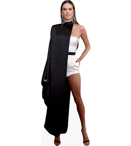 Alessandra Ambrosio (Black and White Outfit)
