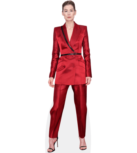 Rosamund Pike (Red Suit)