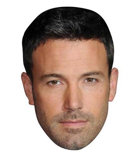 A Cardboard Celebrity Mask of Ben Affleck