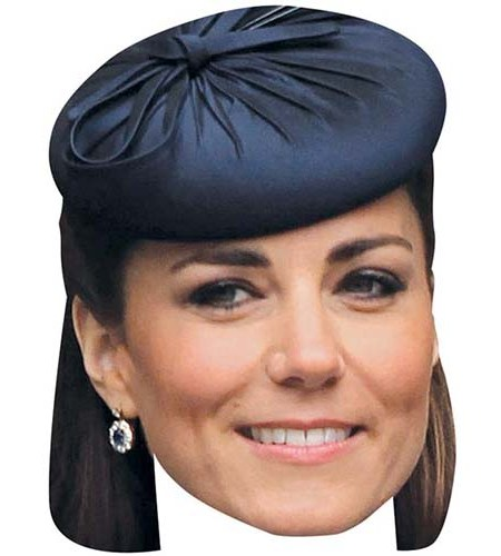 A Cardboard Celebrity Mask of Kate Middleton