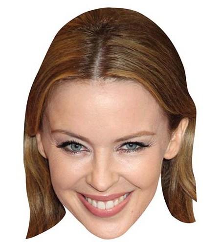 A Cardboard Celebrity Mask of Kylie Minogue
