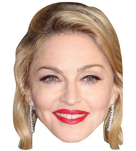 A Cardboard Celebrity Mask of Madonna
