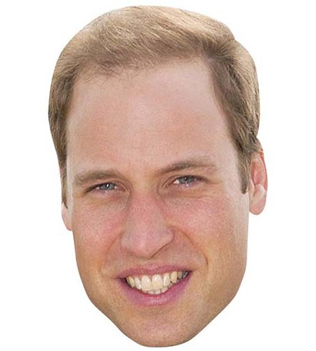 A Cardboard Celebrity Mask of Prince William