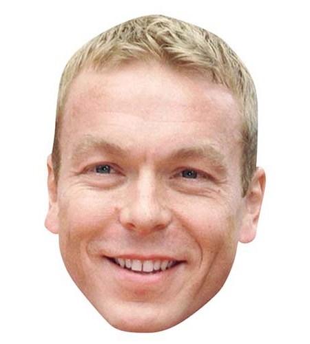 A Cardboard Celebrity Mask of Chris Hoy