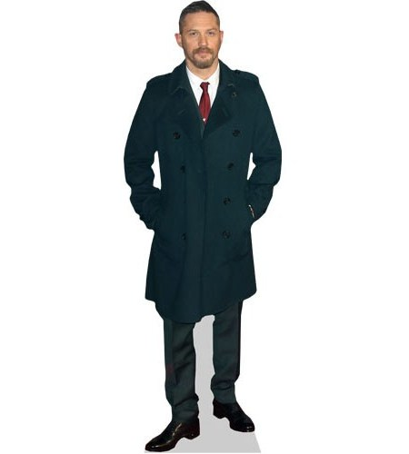 A Lifesize Cardboard Cutout of Tom Hardy wearing a suit