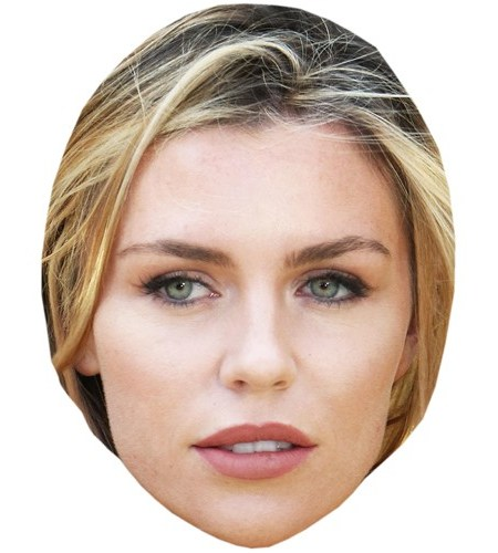 A Cardboard Celebrity Mask of Abbey Clancy