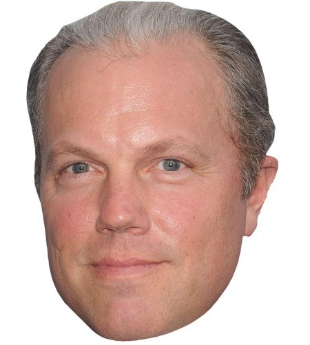 A Cardboard Celebrity Mask of Adam Baldwin