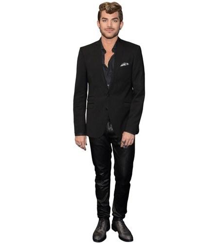 A Lifesize Cardboard Cutout of Adam Lambert wearing a suit