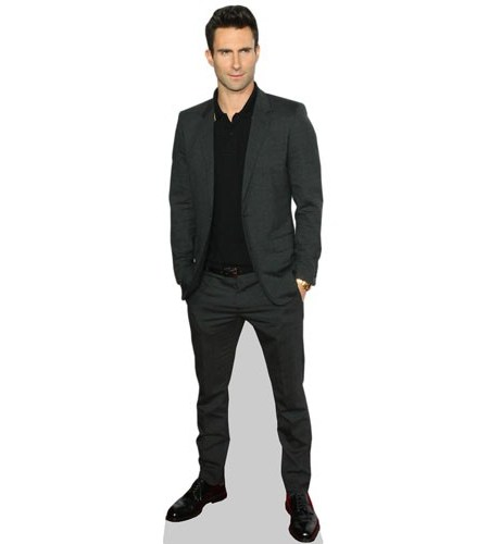 A Lifesize Cardboard Cutout of Adam Levine wearing a suit