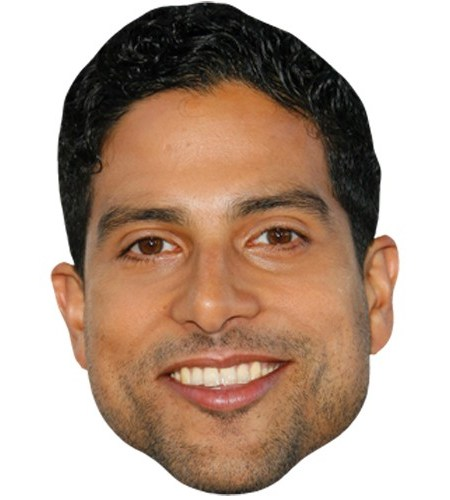 A Cardboard Celebrity Mask of Adam Rodriguez