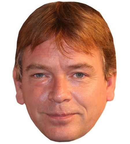 A Cardboard Celebrity Mask of Adam Woodyatt