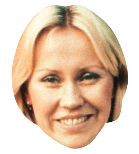A Cardboard Celebrity Masks of Agnetha Faltskog